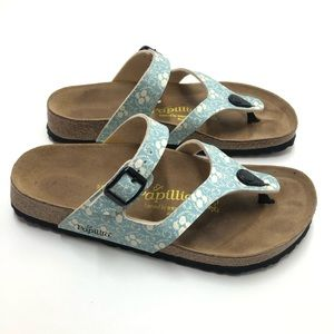 Birkenstock Papillio Blue Floral Sandals  Size 8.5